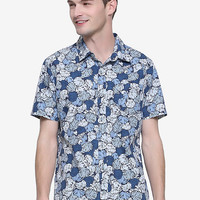 Disney The Little Mermaid Shell Woven Button-Up - BoxLunch Exclusive