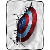 Captain America - Shield Fleece Throw Blanket