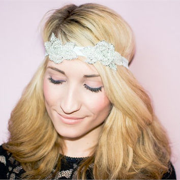 Carrie shimmer and mint headband, Carrie underwood headband, mint headband, wedding headband