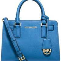 Michael Michael Kors Dillon Small Satchel Heritage Blue New