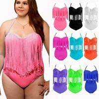 Plus size Women Sexy Bikini Swimwear Push-up Padded Swimsuit Beach Bathing suit