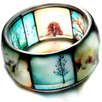ttv viewfinder hand cast resin bangle bracelet