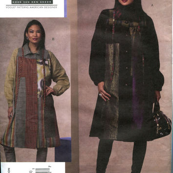 Koos Van Den Akker Couture Boho PATCHWORK Flared Swing COAT Misses' Vogue 1146 American Designer Sewing Pattern Bust 31.5-32.5-34-36 UNCUT