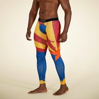 Arizona State Flag Blue Red Yellow Tights for Men