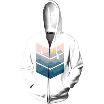 Painted View Zip Up Hoodie