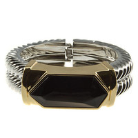 "30% off use promo code ""wanelo"" at checkout. The Instigator Silver, Black, and Gold Statement Bracelet"