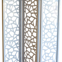 Room Divider - Geometric White