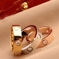 Rings For Women Jewelry Bijoux Bagues Femme Ringen Knuckle Love Ring Anillos Mujer Vintage Titanium Steel Cute Gold Ring *