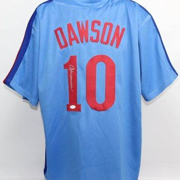 CREYONY Andre Dawson Signed Autographed Montreal Expos Baseball Jersey (JSA COA)