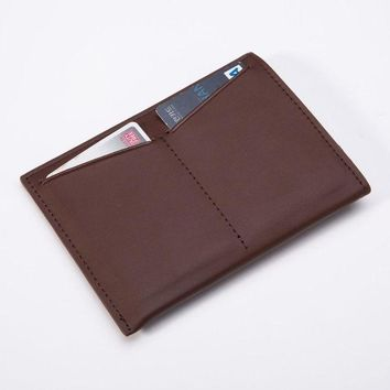 ONETOW Cowhide Leather Money Clips Wallet