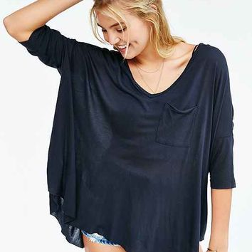 Truly Madly Deeply Eyes Wide Open Dolman Top