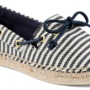 Sperry Top-Sider Katama Breton Stripe Espadrille Navy, Size 9.5M  Women's Shoes