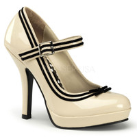 Secret Cream Patent Baby Doll Pumps