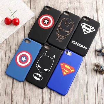 Charming Marvel Avengers Captain America Batman Ironman Phone Case For iPhone XR XS MAX 8 7 6s plus 5s Superhero Hard Back Cover