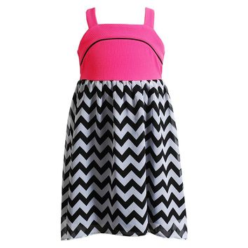 Youngland High-Low Chiffon Chevron Dress - Girls