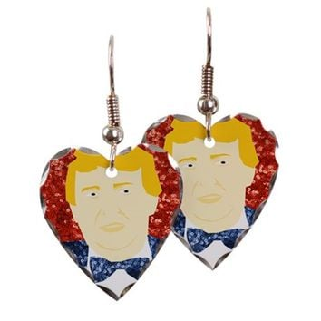 glitter donald trump Earring