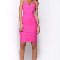 The Pretender Dress Hot Pink
