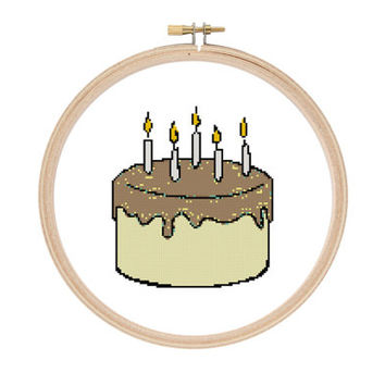 Custom Cake Cross Stitch Pattern