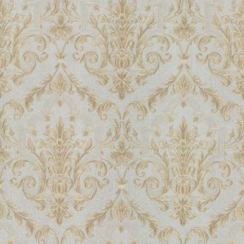 Brewster Wallpaper 987-56567 Consuela Light Blue Damask