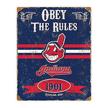 MLB Cleveland Indians Party Animal Vintage Metal Sign
