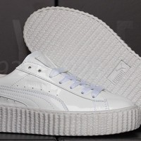 NEW PUMA FENTY RIHANNA CREEPERS GLO WHITE LEATHER WOMEN'S SHOES ALL SIZES