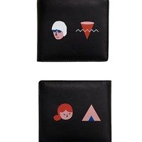Yizi Leather Folded Wallet | Characters