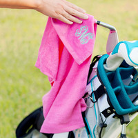 Hot Pink Golf Towel