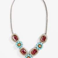 Women's Panacea Crystal Quartz Statement Necklace