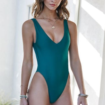 Kovey The Surfari V-Neck One Piece Swimsuit at PacSun.com