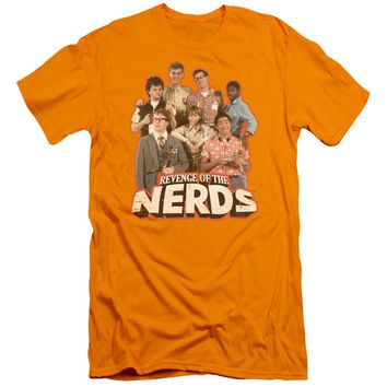 Revenge Of The Nerds - Group Of Nerds Premium Canvas Adult Slim Fit 30/1 Shirt Officially Licensed T-Shirt