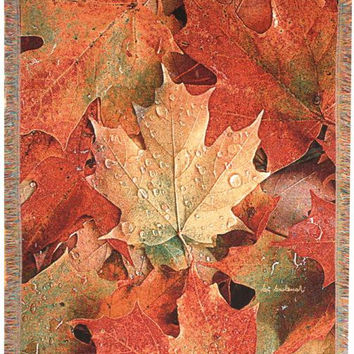 Throw Blanket - Fall Leaf