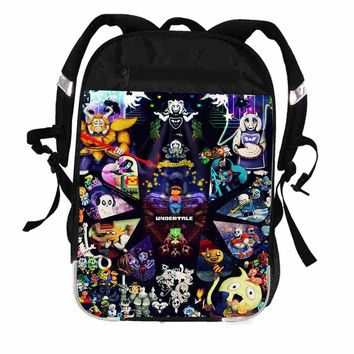 Undertale Backpack Animal Galaxy Anime Sans Frisk Bill  Women Men Casual Boys Girls School Bags Laptop mochila BagpackKawaii Pokemon go  AT_89_9