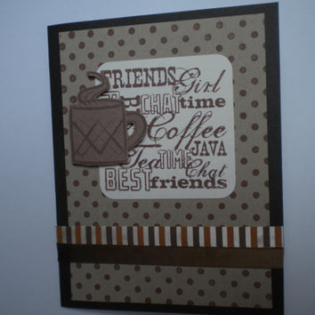 Friends Coffee Greeting Card by lilaccottagecards on Etsy
