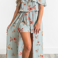 Floral Breeze Maxi Romper