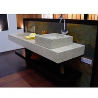 Concrete Cube Marble Sink | Overstock.com