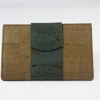 GREEN CORK TRIFOLD WALLET