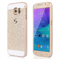 Luxury Bling Case cover for Samsung Galaxy S6 glitter powder Cover Fashional Phone case Cover with logo ultra-thin Case SJ0177