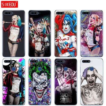 Silicone Cover Phone Case For Huawei Honor 7A PRO 7C Y5 Y6 Y7 Y9 2017 2018 Prime Harley Quinn Suicide Squad Joker