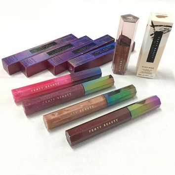 Brand makeup Lip Glitter  FENTY BEAUTY lip gloss  liquid Glow lipstick COSMIC GLOSS bomb limited edition Glaze BNIB  BY RIHANNA