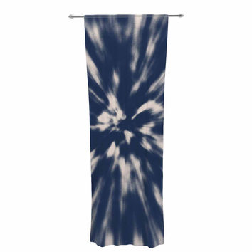 "Nika Martinez ""Indigo Tie Dye"" Blue Urban Decorative Sheer Curtain"