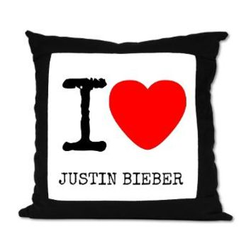I Love Justin Suede Pillow> Music> abrakadabra