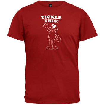 Sesame Street - Tickle This Red Adult T-Shirt