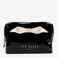 Large bow cosmetic bag - Black | Gifts for Her | Ted Baker