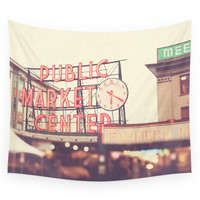 Society6 6:20. Seattle Pike Place Public Market Photograph Wall Tapestry