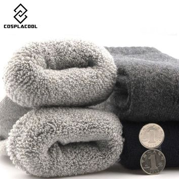 [COSPLACOOL] 2016 New Socks Men Good Quality Winter Cashmere Thick warm socks Solid