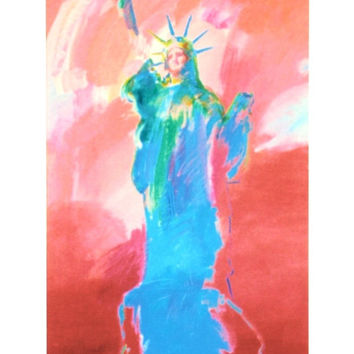 Statue of Liberty II, Limited Edition Lithograph, Peter Max