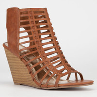 Madden Girl Coasterr Womens Wedges Cognac Paris  In Sizes