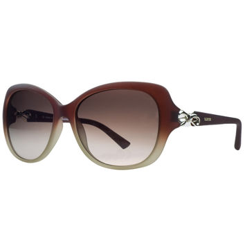 Valentino Red Gradient Rectangular Sunglasses