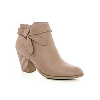 Taupe Arden Bow Booties