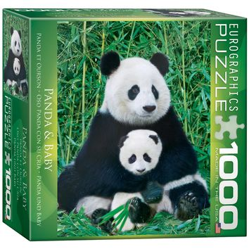 Panda and Baby - 1000 Piece Jigsaw Puzzle